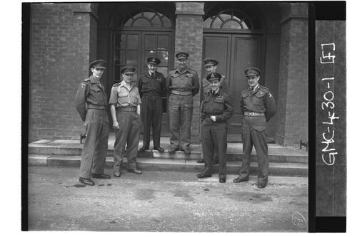 Royal Artillery (Army) and RAF Officers, RAF Ouston.