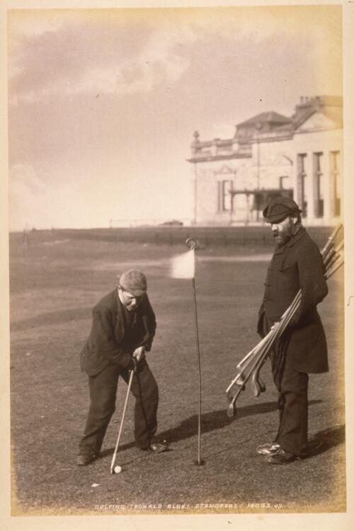 Golfing (Donald Blue), St Andrews.