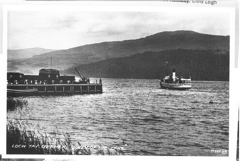 "Loch Tay Steamer ""Queen of the Lake""."