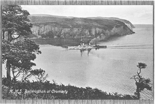 H.M.S. Bellerophan at Cromarty.