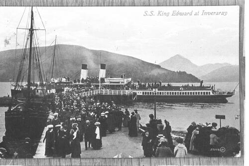 SS King Edward at Inveraray.