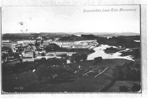 Enniskillen from Cole Monument.