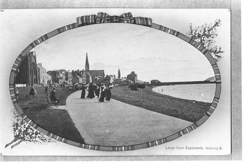 Largs from Esplanade, looking S.