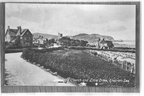 Llandrillo Church and Little Orme, Rhos-on-Sea,