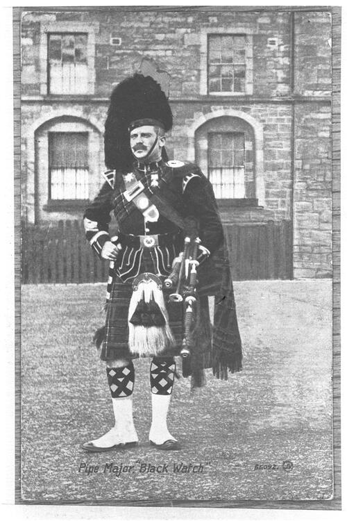 Pipe Major, Black Watch, [Edinburgh Castle].
