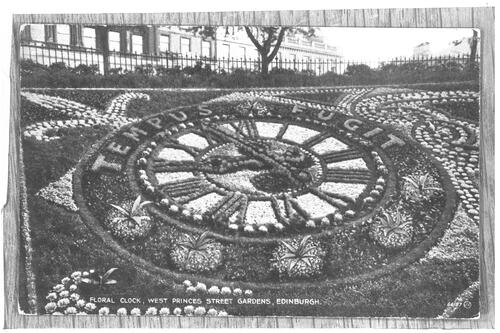 Floral Clock, West Princes Street Gardens, Edinburgh.
