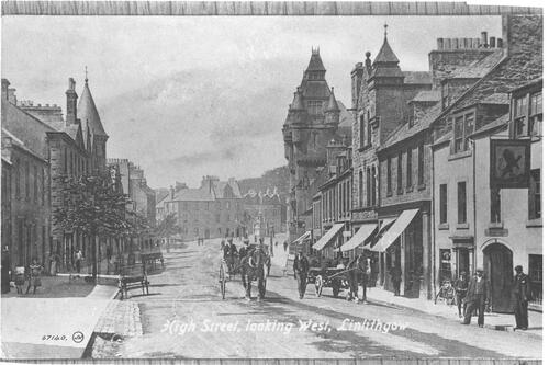 High Street, looking West, Linlithgow.