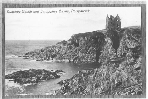 Dunskey Castle and Smugglers Caves, Portpatrick.