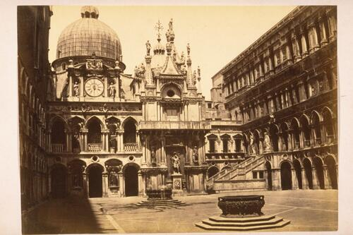 The Doge's Palace Courtyard and St Mark's Basilica, Venice.