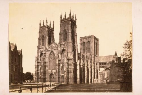West side of York Minster, from South West, York.