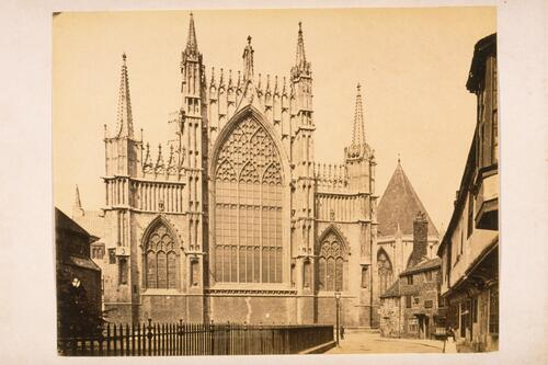 East front of York Minster Choir, College Street and St Williams College, York.