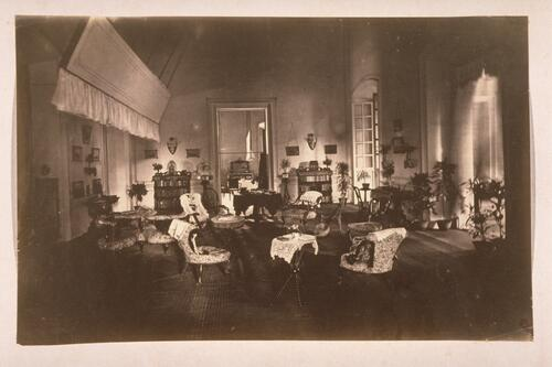 Interior of building - ?drawing room.