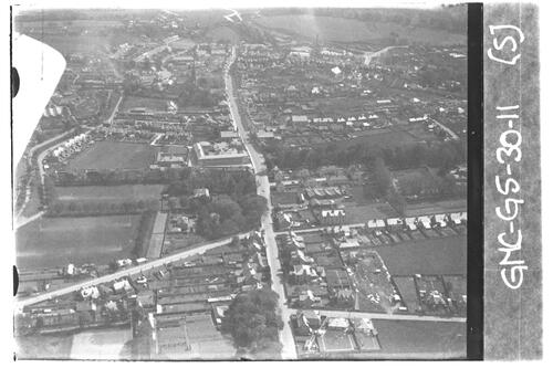 Cupar from the air, looking east.