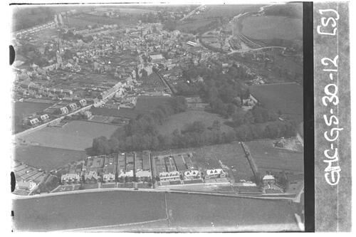 Cupar from the air, looking north east.