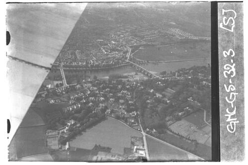 Aerial view of Perth, looking West.