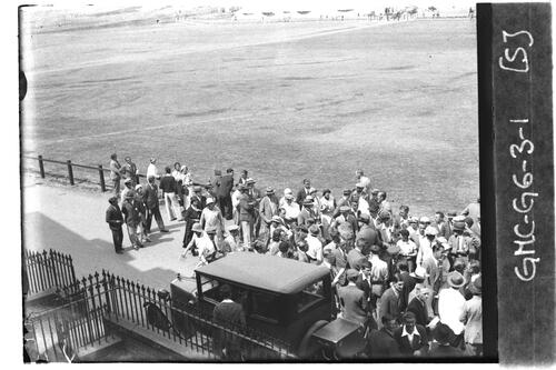 Crowds by 18th fairway, the Old Course, the Open Championship, St Andrews 1933