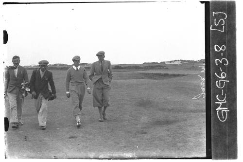 Jack McLean and golfers on the Old Course, the Open Championship, St Andrews 1933