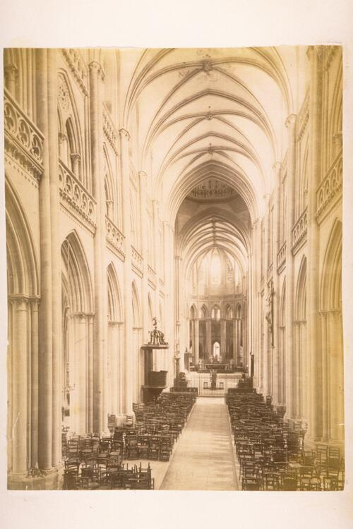 Coutances Cathedral, interior.