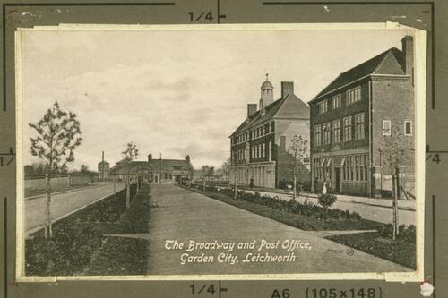 The Broadway and Post Office, Garden City, Letchworth.