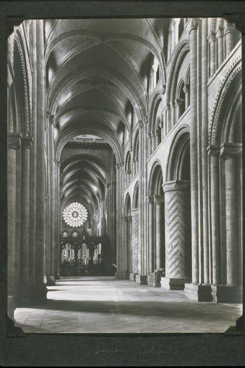 The Nave, looking East, Durham Cathedral.