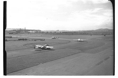 "Plane preparing to take off, ""Battle of Britain"" Preview, RAF Leuchars."