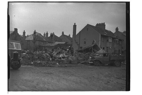 Air raid damage, St Andrews.