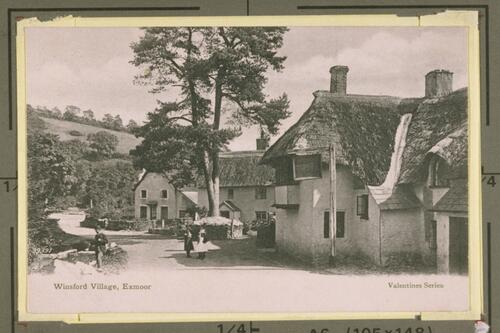 Winsford Village, Exmoor.