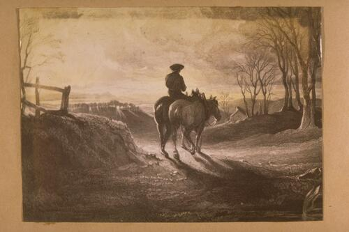 [Rider and horses].