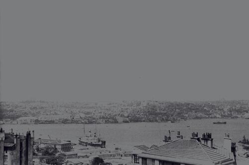 View across the Bosphorus to Istanbul.