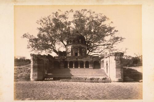 Temple or ghat where European women and childern were massacred during the Mutiny in Cawnpore