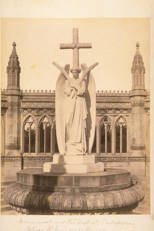 Monument over the well at Cawnpore where the dead were thrown.