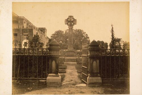[Gravestone for the dead of the Seige of Cawnpore].