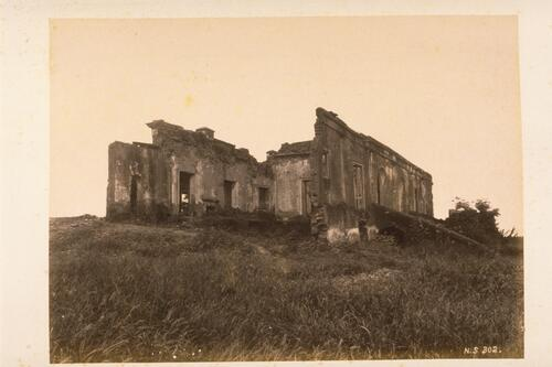[?Nana Sahib's Headquarters at Savadi Koti during the siege of] Cawnpore.
