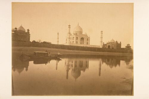 Taj Mahal, Agra from the River Yamuna.