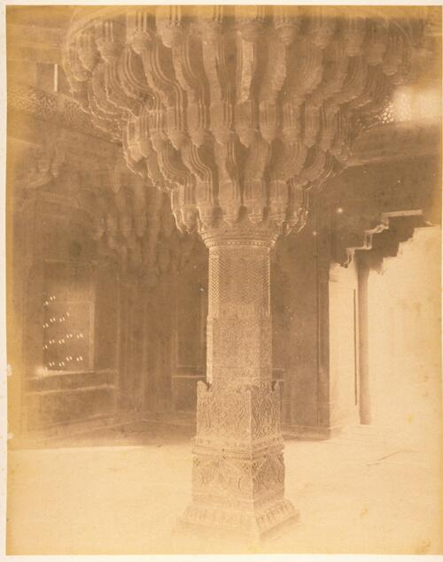 The Central Pillar, Diwan-i-Khas, Fatehpur Sikri Palace, Agra.