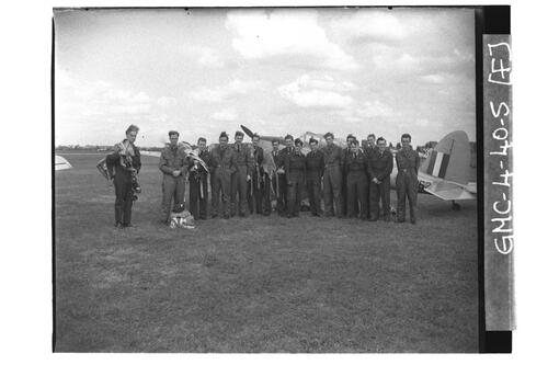 Members of the University of St Andrews Air Squadron, RAF Shawbury.