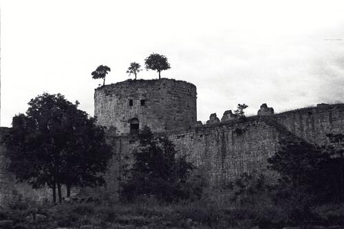 Fort tower, Theodosian Land Walls, Istanbul.