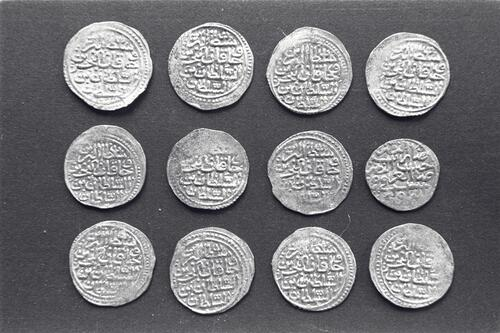 Coins from the excavations at the Great Palace, Istanbul (Constantinople).