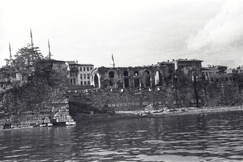 Seafront below the excavation, Sultanahmet, Istanbul from the Bosphorus.
