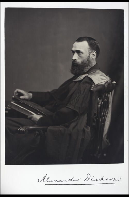 Alexander Dickson, MD, Professor of Botany, [University of Glasgow] Glasgow.