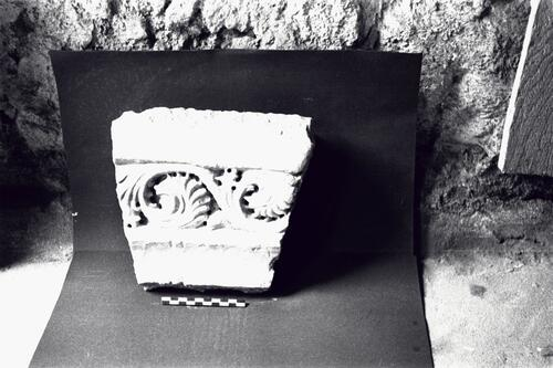 Sculptural fragment, Great Palace excavation, Sultanahmet, Istanbul (Constantinople).