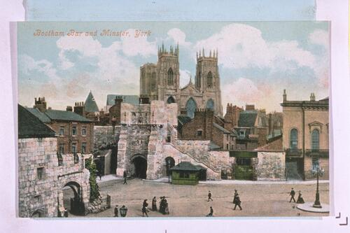 Bootham Bar and Minster, York.