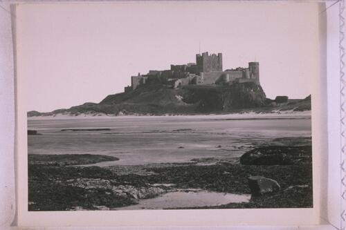 Bamburgh Castle from the Beach.