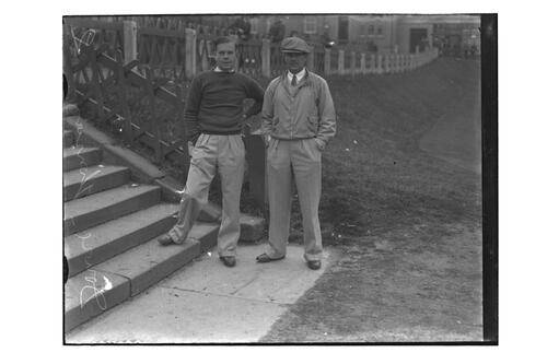 Hector Thomson and Andrew Dowie (St Andrews), the Old Course, St Andrews, The British Amateur Championship, 1936.