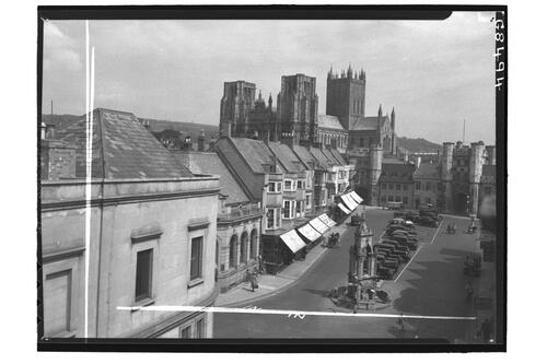 Market Place & Cathedral, Wells.