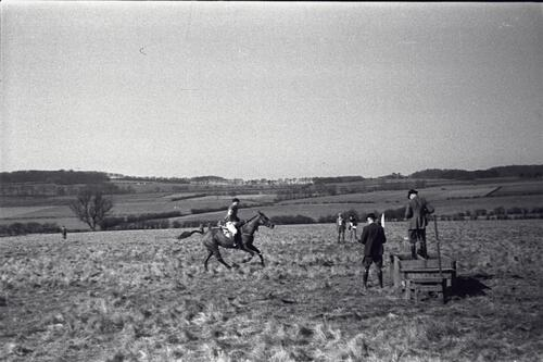 The finish of the Point to Point, Scotland.
