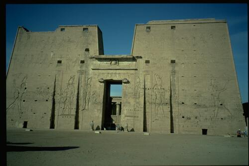 Edfu, the temple pylon.