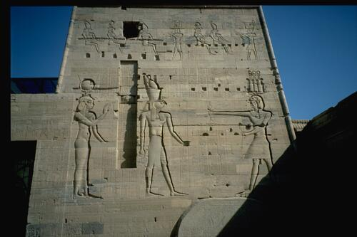 Philae, Pylon Relief.