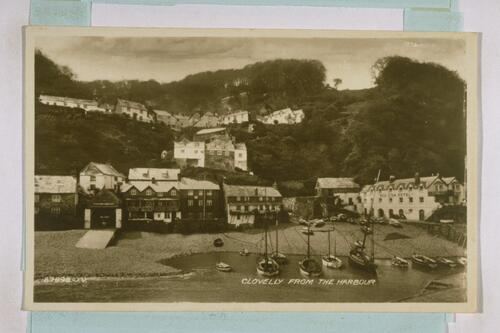 Clovelly from the Harbour.