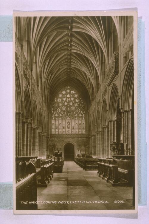 Nave, Exeter Cathedral.